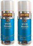2 x Hycote White Primer Car, Van, Bike Spray Paint / Aerosol 400ml